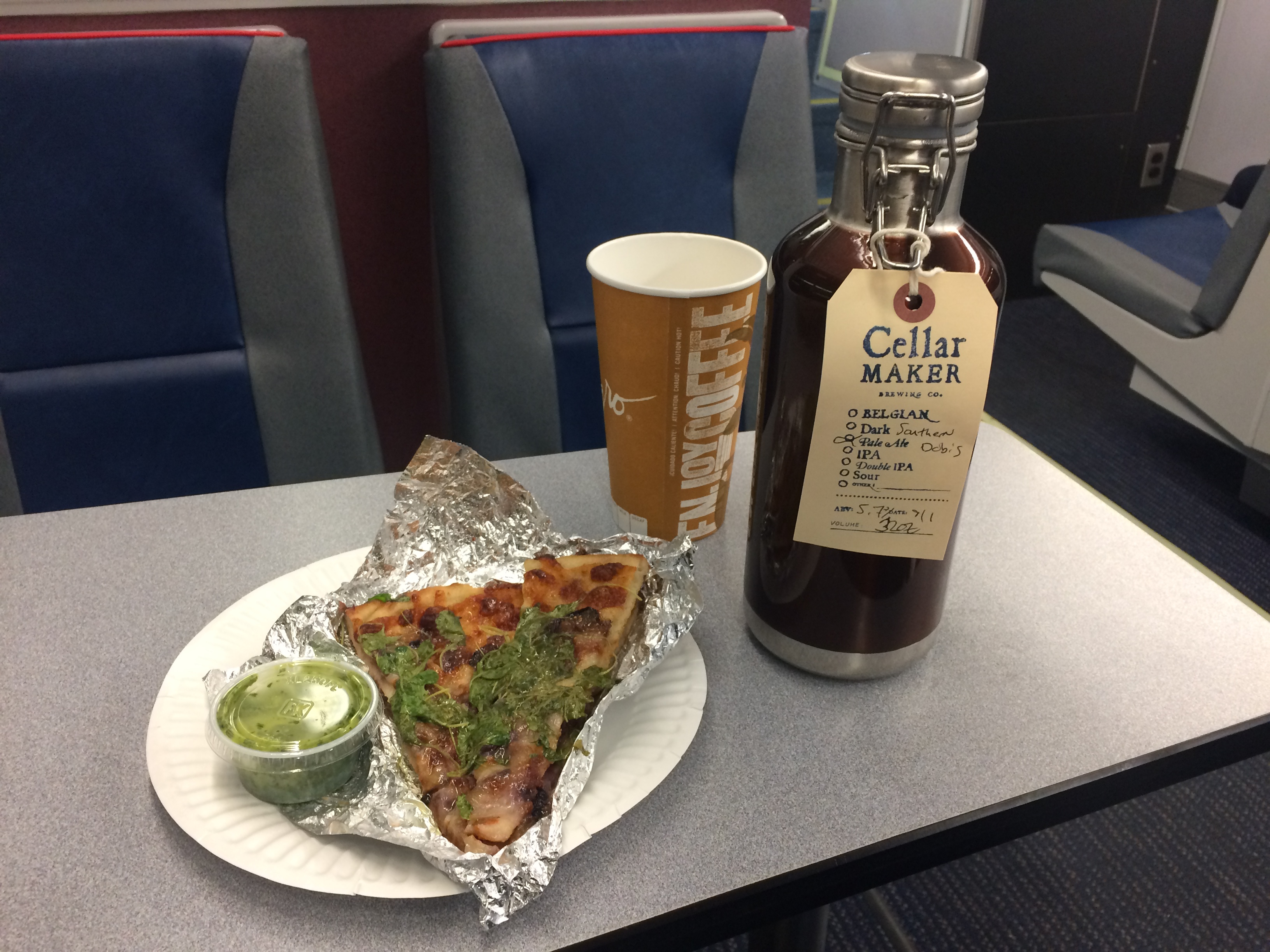 Great on the train! Now with pizza!